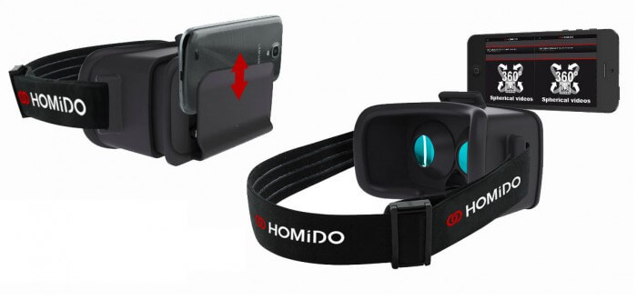 Realidad virtual que funciona con la ayuda de un smartphone compatible